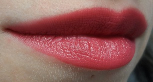 Hikari Lipstick in Cabernet swatch on lips