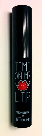 memebox time on my lip lip stain packaging