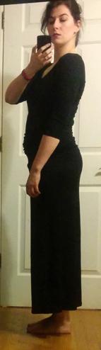 black puella bohemian long sleeved maxi dress