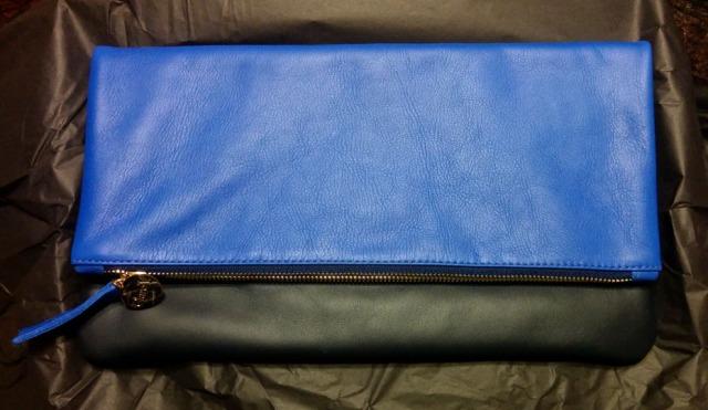 Clare V  Supreme Colorblock Fold-Over Clutch Bag