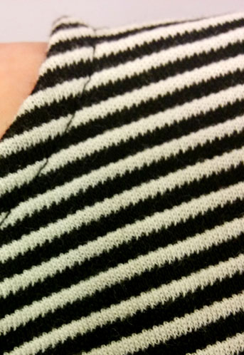 everly striped dress fabric swatch closeup