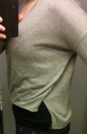 Jealous Tomato Grey cropped Wrap sweater