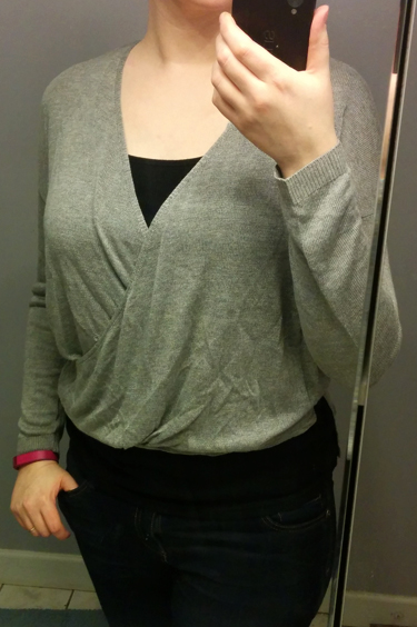 Jealous Tomato Grey Wrap Top