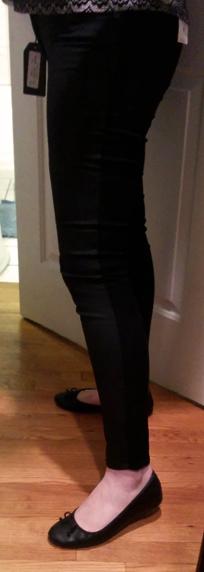 just black coated skinny jeans