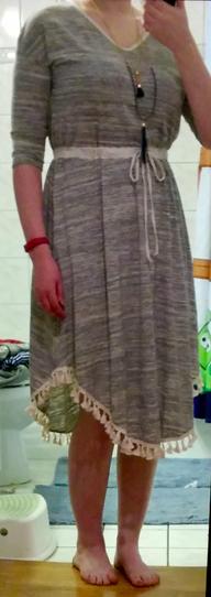 le lis thankful fringed tassel dress