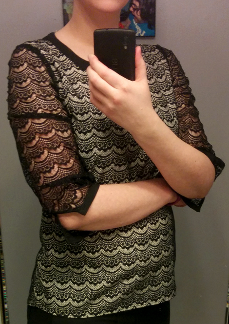 Lovely Lace Top sleeves