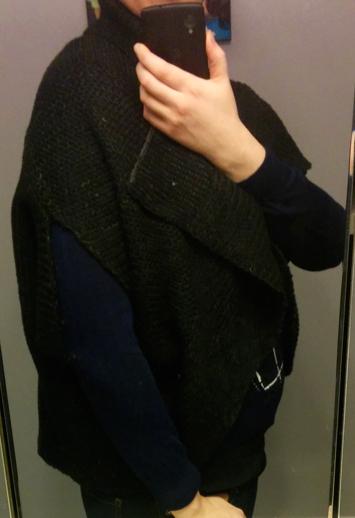 Mak B Black knit cocoon Shrug