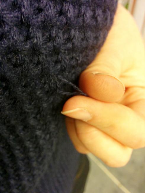 Mak B Navy Sweater snag
