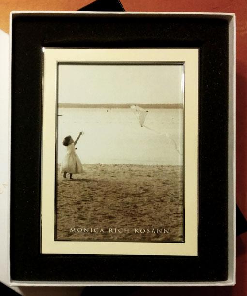 Monica Rich Kosann Silver Plated Enamel Picture Frame