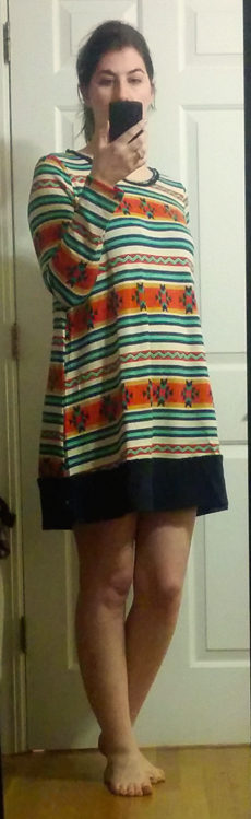 oct 14 golden tote skies are blue a line swing dress aztec print