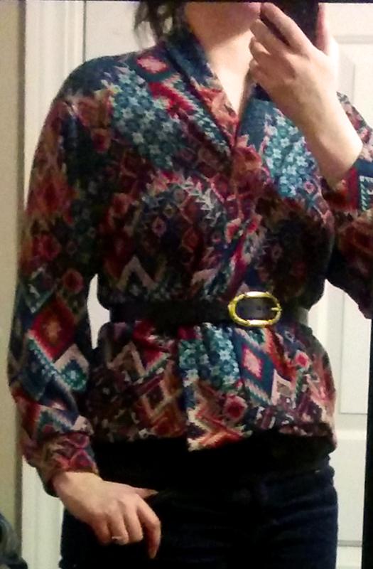 october 2014 golden tote cut and sew aztec kimono cardigan