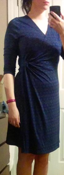 october 2014 golden tote navy blue geo print priddy wrap dress