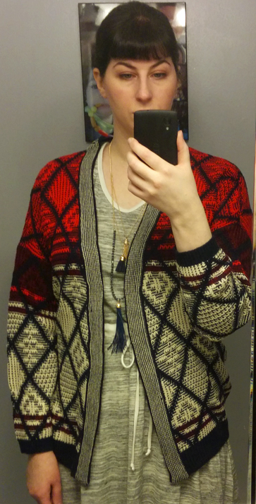 Red Apple Picking Cardigan