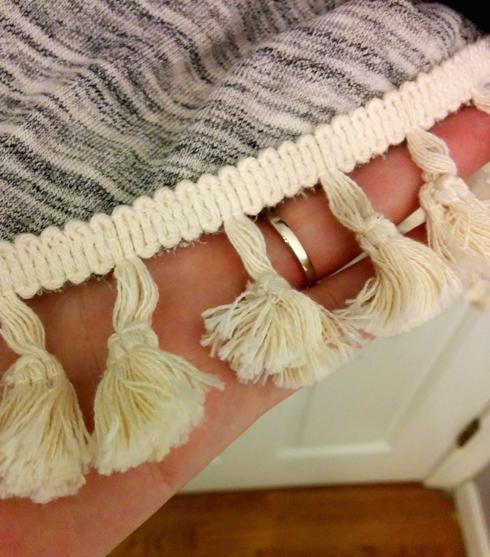 Thankful Dress tassel closeup