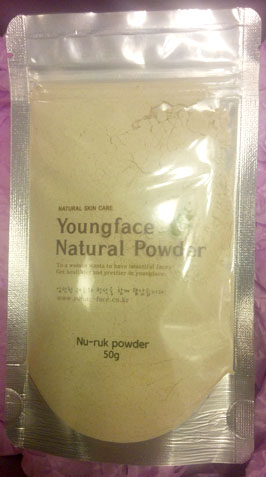 young face nuruk natural mask and scrub