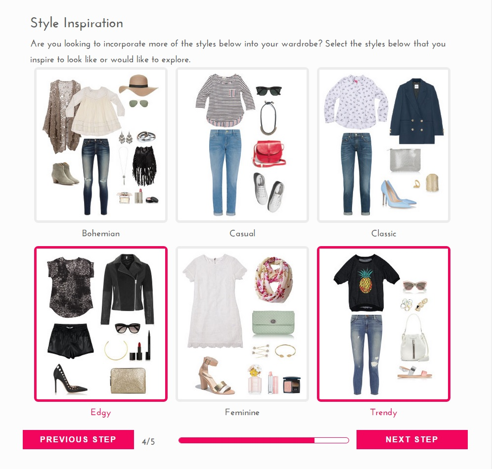 Stitch fix alternative cosmetic confessional Fashion style categories list