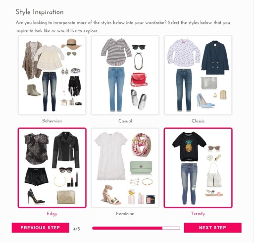 Golden Tote style profile selection