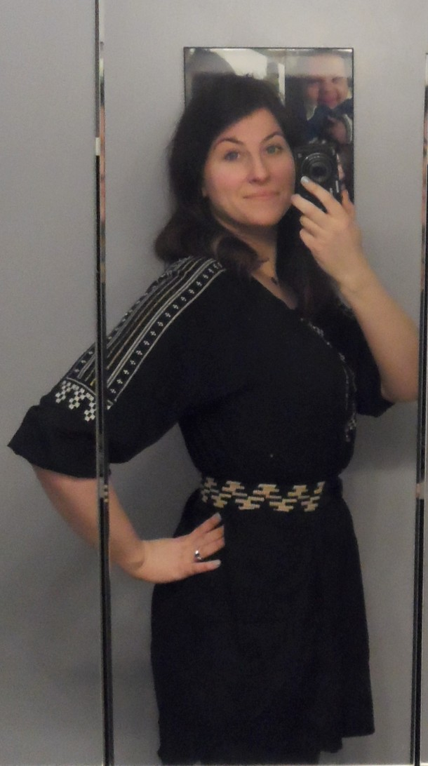 black lumiere ethnic trim tunic
