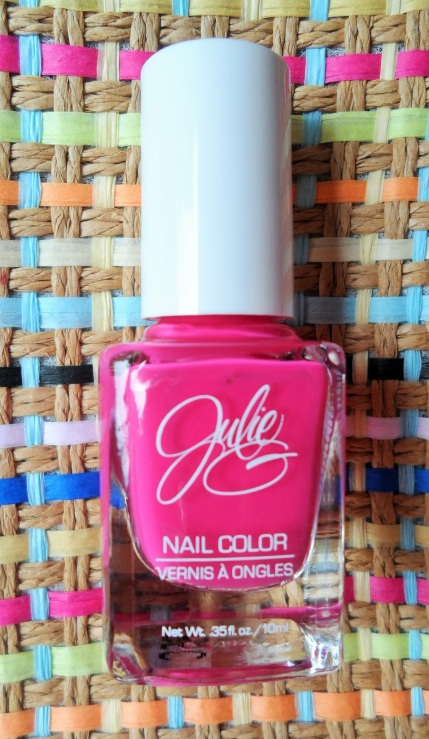 Julie  G hot pink nail polish
