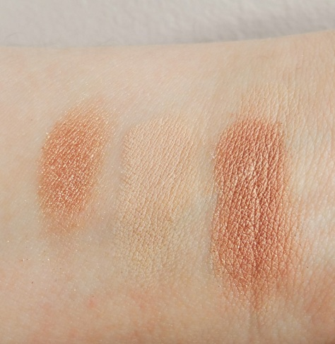nude dude fit eyeshadow swatched over primer