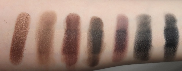MORPHE BRUSHES 35W palette swatches row 5