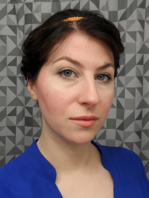 neutral makeup look from wet n wild comfort zone palette