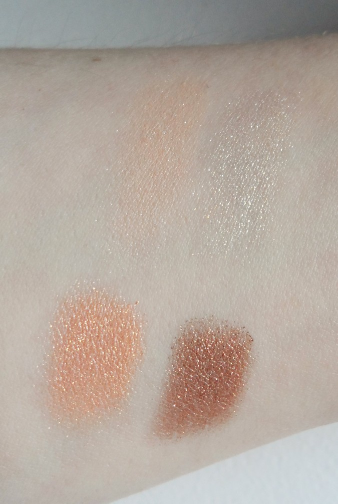 pony 3 brown bloom eyeshadow quad swatches