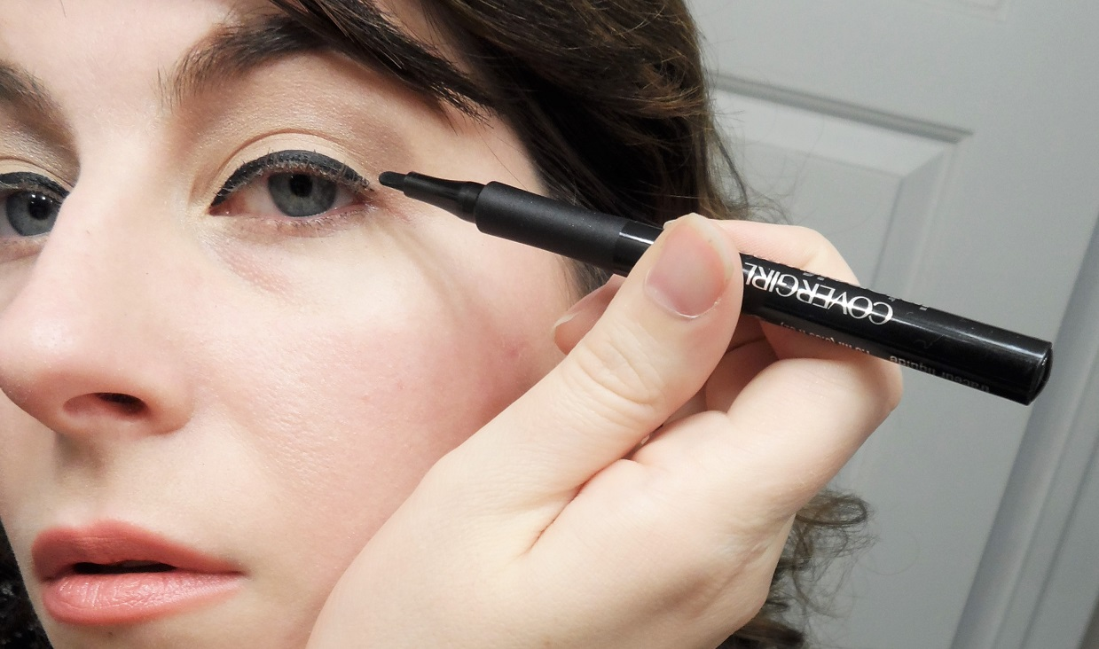 CoverGirl intensify me eyeliner and super sizer mascara review