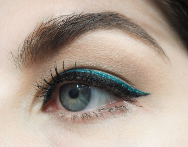 teal and black liquid liner