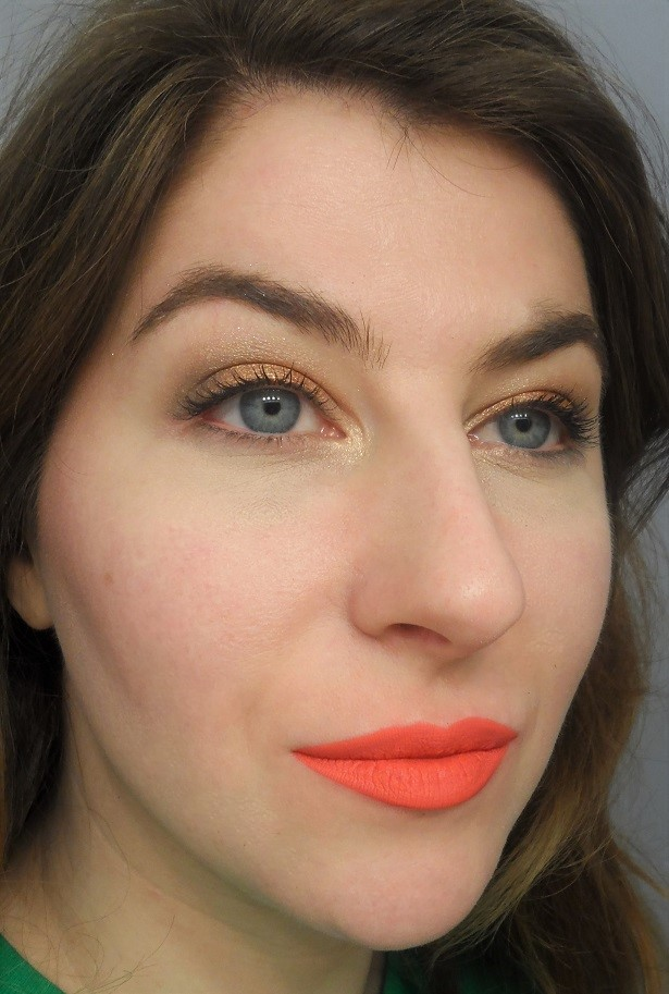 Jordana Made to Last Liquid Eyeshadow Review look mango sorbet sweet cream